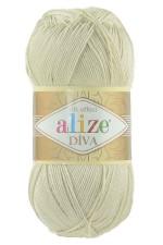 Пряжа для вязания Alize Diva (Ализе Дива) Цвет 383 молочно бежевый