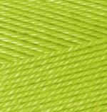 Пряжа для вязания Alize Duet Bamboo & Cotton (Ализе Дуэт) Цвет 612 зеленый неон