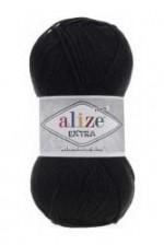 Пряжа для вязания Alize Extra (Ализе Экстра) Цвет 60 черный