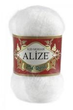 Пряжа для вязания Alize Kid Royal (Ализе Кид Роял) Цвет 55 белый