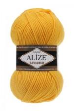 Пряжа Alize Lanagold (Ализе Лана Голд) Цвет 216 желтый