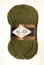 Пряжа Alize Lanagold (Ализе Лана Голд) Цвет 233 зеленая черепаха