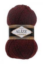 Пряжа Alize Lanagold (Ализе Лана Голд) Цвет 603 бордо черный