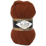 Пряжа Alize Lanagold (Ализе Лана Голд) Цвет 91 кирпич