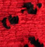 Пряжа для вязания Alize Ponponella (Ализе Помпонелла) Цвет 5112 красный черный