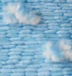 Пряжа для вязания Alize Ponponella (Ализе Помпонелла) Цвет 5123 голубой белый