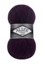 Пряжа для вязания Alize Superlana Maxi (Ализе Суперлана Макси) Цвет 111 фиолетовый