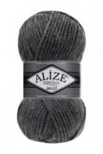 Пряжа для вязания Alize Superlana Maxi (Ализе Суперлана Макси) Цвет 182 темно серый
