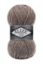 Пряжа для вязания Alize Superlana Maxi (Ализе Суперлана Макси) Цвет 207 светло коричневый