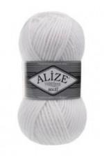 Пряжа для вязания Alize Superlana Maxi (Ализе Суперлана Макси) Цвет 55 белый