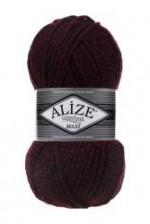 Пряжа для вязания Alize Superlana Maxi (Ализе Суперлана Макси) Цвет 603 черный красный