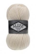 Пряжа для вязания Alize Superlana Maxi (Ализе Суперлана Макси) Цвет 62 кремовый