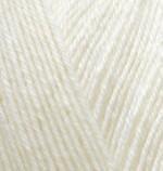 Пряжа для вязания Alize Superwash 100 (Ализе Супервош 100) Цвет 01 кремовый