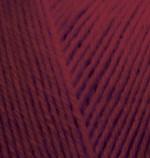 Пряжа для вязания Alize Superwash 100 (Ализе Супервош 100) Цвет 57 бордовый