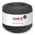 Пряжа для вязания Дом пряжи Трикотажная пряжа Love is New Цвет 09 графит