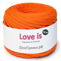 Пряжа для вязания Дом пряжи Трикотажная пряжа Love is New Цвет 17 апельсиновая корочка