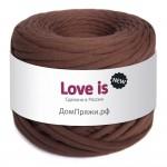 Пряжа для вязания Дом пряжи Трикотажная пряжа Love is New Цвет 56 просто шоколад