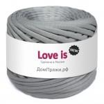 Пряжа для вязания Дом пряжи Трикотажная пряжа Love is New Цвет 65 серый мрамор