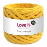 Пряжа для вязания Дом пряжи Трикотажная пряжа Love is New Цвет 85 желтый