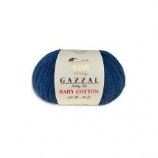 Пряжа для вязания Gazzal Baby Cotton (Газзал Беби Коттон)