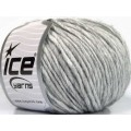 ICE fnt2-57001 Wool Cord Aran Grey Melange
