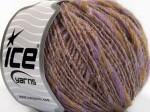 Пряжа для вязания ICE Goloso Alpaca (Голосо Альпака) Цвет fnt2-60079 светло-коричневый сиреневый