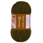 Пряжа для вязания Kartopu Alpaca Sport (Картопу Альпака Спорт) Цвет 411 болотный