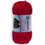 Пряжа для вязания Kartopu Tempo Цвет 132 красный