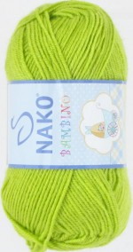 NAKO Bambino Цвет 9043 светло-зеленое яблоко