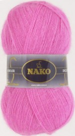NAKO Mohair Delicate Цвет 6112 ярко-розовый