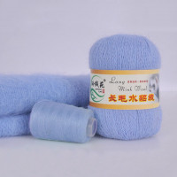 Mink wool 08 Норка длинноворсовая 08 голубой