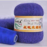 Mink wool 09 Норка длинноворсовая 09 фиолетовый яркий