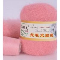 Mink wool 13 Норка длинноворсовая 13 розовая азалия