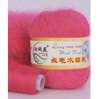 Mink wool 15 Норка длинноворсовая 15 малиновый
