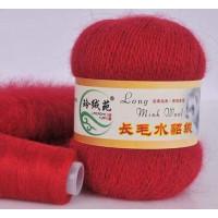 Mink wool 17 Норка длинноворсовая 17 красный темный