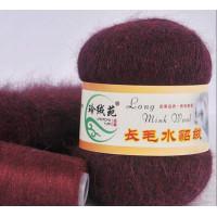 Mink wool 30 Норка длинноворсовая 30 бордовый темный