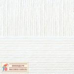 Пряжа для вязания Пехорка Детская новинка Цвет 01 белый