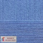 Пряжа для вязания Пехорка Детская новинка Цвет 15 темный голубой