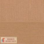Пряжа для вязания Пехорка Детская новинка Цвет 377 кофейный