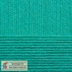 Пряжа для вязания Пехорка Детская новинка Цвет 581 светлый изумруд