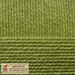 Пехорка Мериносовая Цвет 252 зеленый горошек