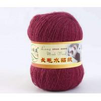 Mink wool 49 Норка длинноворсовая 49 брусничный