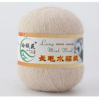 Mink wool 44 Норка длинноворсовая 44 слоновая кость