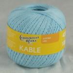 Пряжа для вязания Семеновская фабрика Kable (Кабле) Цвет 30003 голубой x