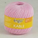 Пряжа для вязания Семеновская фабрика Kable (Кабле) Цвет 30020 розовый х