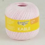 Пряжа для вязания Семеновская фабрика Kable (Кабле) Цвет 30033 бледная роза x