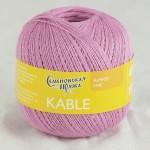 Пряжа для вязания Семеновская фабрика Kable (Кабле) Цвет 30092 розовый кварц х