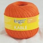 Пряжа для вязания Семеновская фабрика Kable (Кабле) Цвет 30670 морковный x