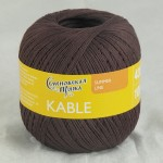 Пряжа для вязания Семеновская фабрика Kable (Кабле) Цвет 31443 махагон x