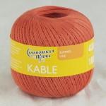 Пряжа для вязания Семеновская фабрика Kable (Кабле) Цвет 37324 шиповник x